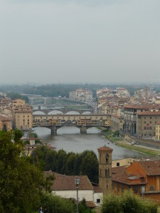 Can you mend it? Part 3 Ponte Vecchio from Piazzale Michelangelo